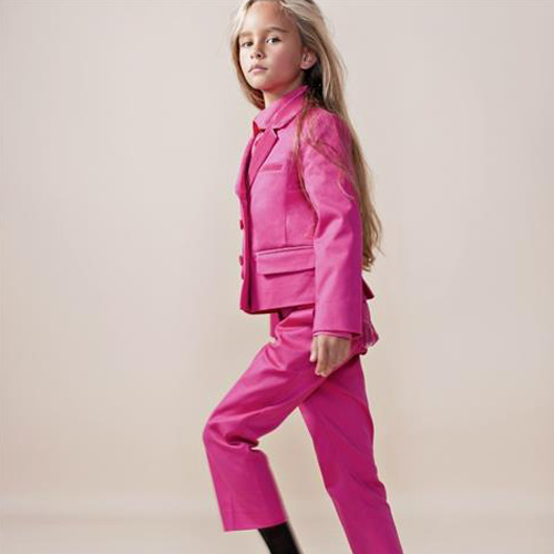 Hot Pink Velvet Suit